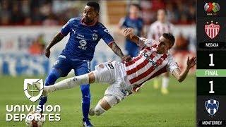 Necaxa 1-1 Monterrey – GOLES Y RESUMEN – Apertura 2018 Liga MX Jornada 16
