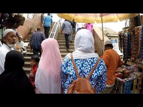 Old Delhi Jama Masjid Most Crowded Market ~ Travel india ( Gopro Hero & G5 Gimbal )