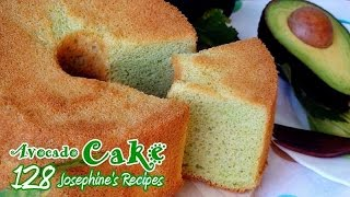 How To Make Fluffy Avocado Chiffon Cake L Angel Food Cake ☆ 牛油果戚風蛋糕 ☆ 雪芳蛋糕 - Josephine's Recipes 128
