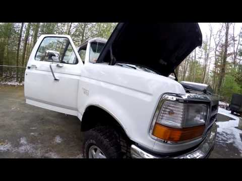 yellow abs light and red brake light on 1996 Ford-F250 - YouTube