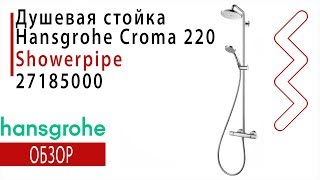 Душевая стойка Hansgrohe Croma 220 Showerpipe ( арт. 27185000) Обзор, Распаковка