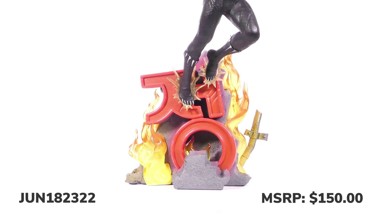 Marvel Movie Premier Collection Black Panther Resin Statue Unboxing + 360