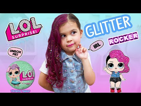 DIY How to Real Life L.O.L Surprise Doll Glitter Rocker Makeover & UNBOXING