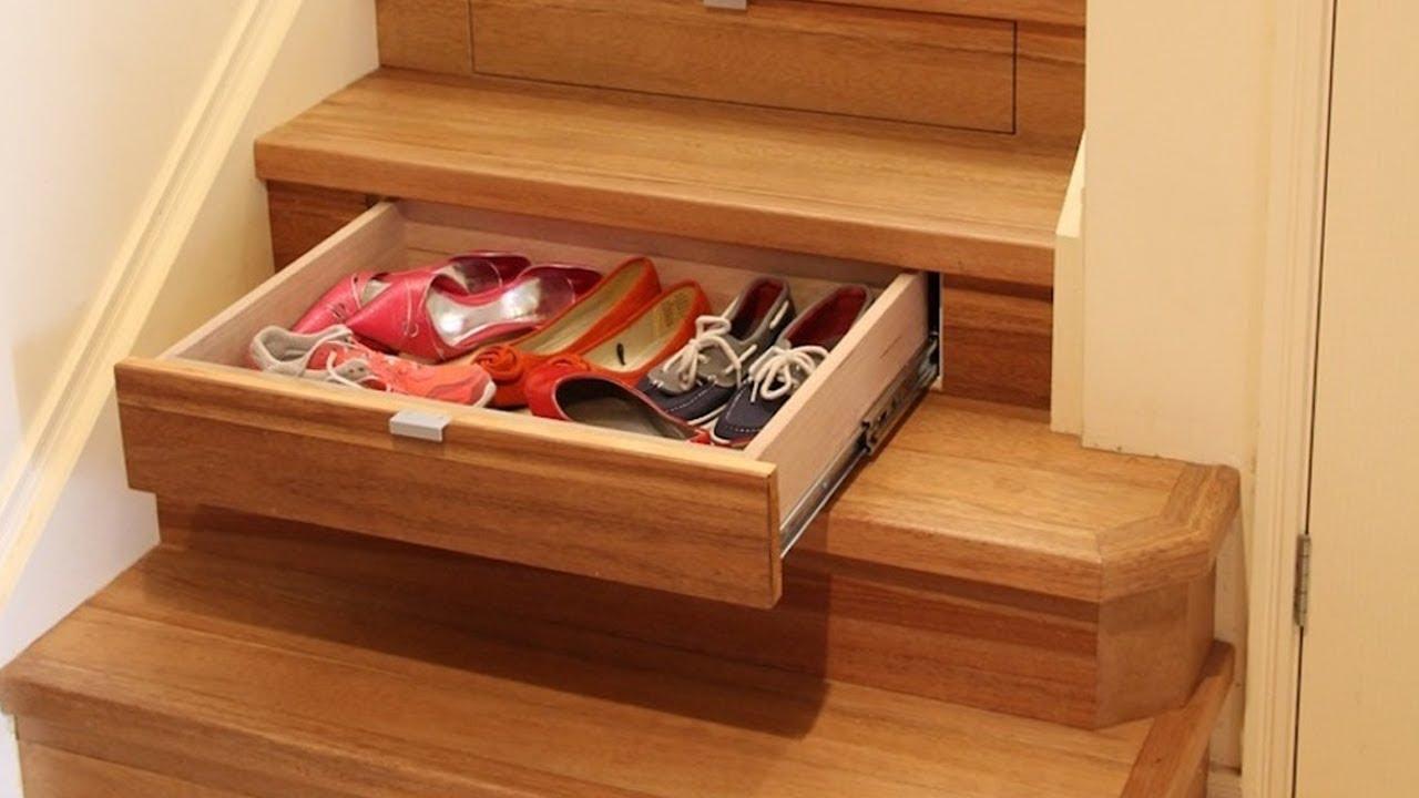 Escalier En Bois Avec Rangement cet escalier créatif cache des tiroirs de rangements