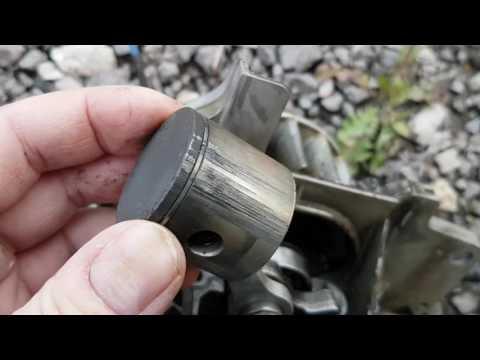 Косилка Husqvarna заклинил двигатель. Задиры на поршне.