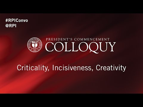 2017 President's Commencement Colloquy
