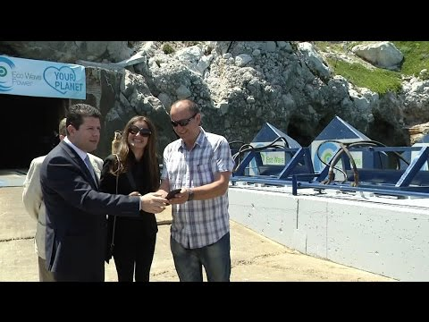 First ever renewable wave energy system in Europe is launched in Gibraltar