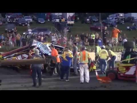 Sportsman Wreck on the Backstretch at OCFS - 7/13/13