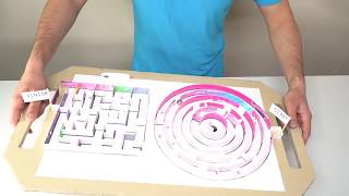 GIANT Maze Labyrinth for Board Game using Cardboard | Can they EXIT?