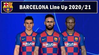 Barcelona potential starting lineup next season 2020/21: ter stegen, jordi alba, lenglet, pique, nelson semedo, busquets, kante, arthur, neymar, martinez, me...