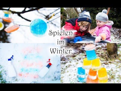 Spielen mit Kindern   4 tolle Ideen im Winter   Mama Kreativ