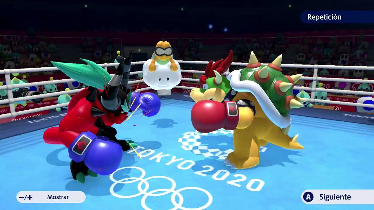 Mario & Sonic at the Olympic Games Tokyo 2020 - Zavok vs Bowser Boxing Gameplay HD