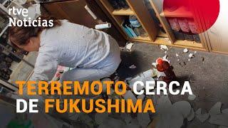 Un TERREMOTO de magnitud 7,1 sacude la costa de FUKUSHIMA en Japón I RTVE Noticias