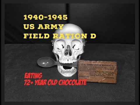 RARE WWII US Army Field Ration D: 72 Year Old Chocolate - First Opened/Eaten On YouTube