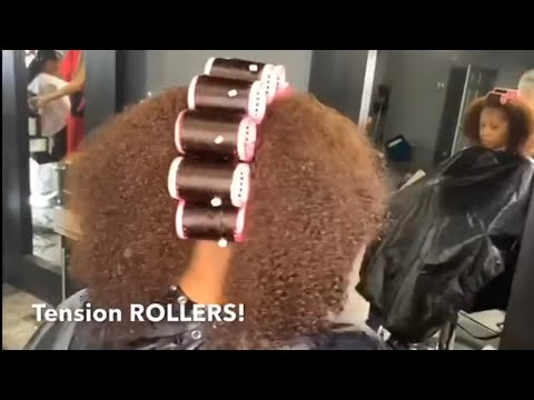 THICK AND NATURAL HAIR ROLLER SET AND COLOR TRANSFORMATION!