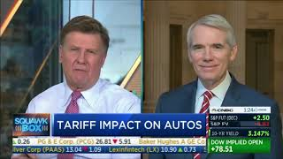 On CNBC, Portman Discusses Auto Tariffs, Trade with China, and Midterm Election Results