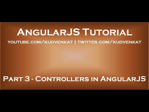 Controllers in AngularJS
