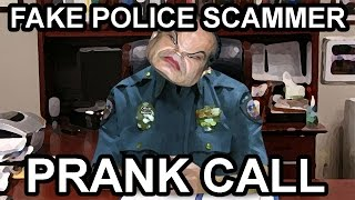 Police Officer Scammer Rage Prank Call - The Hoax Hotel