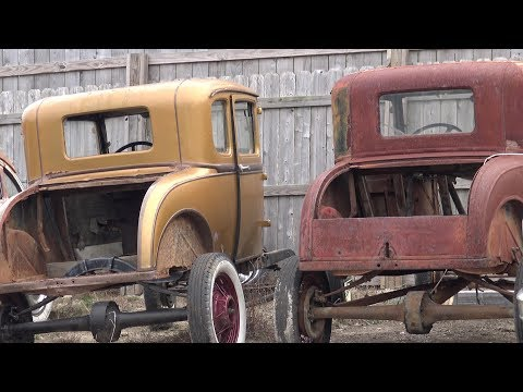 Twin Model A Coupes & 55 56 Chevys