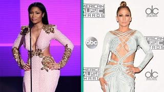 did nicki minaj give jennifer lopez side eye during amas performance?