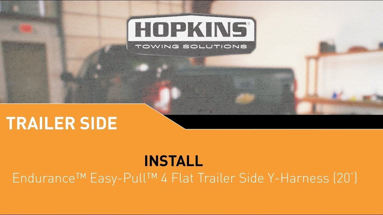 maxresdefault 48244 endurance™ easy pull™ 4 flat y harness (20') install youtube hopkins towing solutions wiring diagram at eliteediting.co
