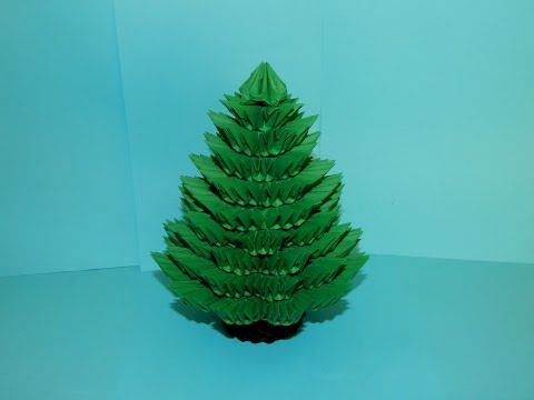 3D origami Christmas Tree tutorial part1