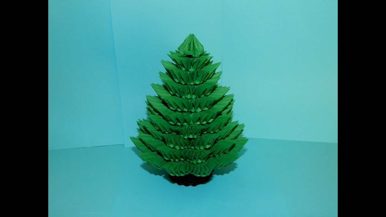 Make A Origami Christmas Tree
