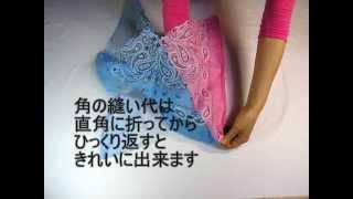 Repeat youtube video [Z's file 1-jp]バンダナで作るエコバッグ ver.1(型紙不要)