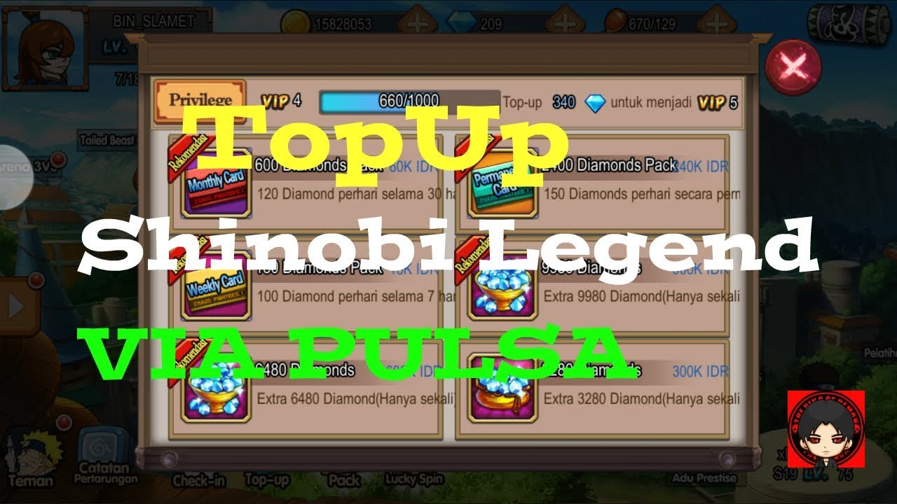 Cara Top Up Shinobi Legend Pakai Pulsa Axis Xl Youtube