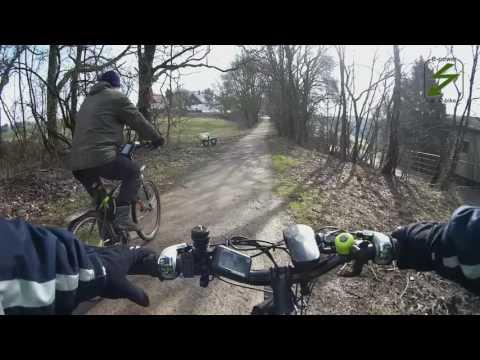 Coole E-Bike MTB Tour Cross and Country Trial Wege Ennepetal Di.21.2.2017