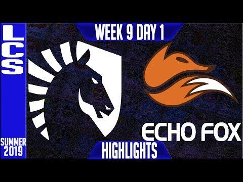 TL vs FOX Highlights | LCS Summer 2019 Week 9 Day 1 | Team Liquid vs Echo Fox