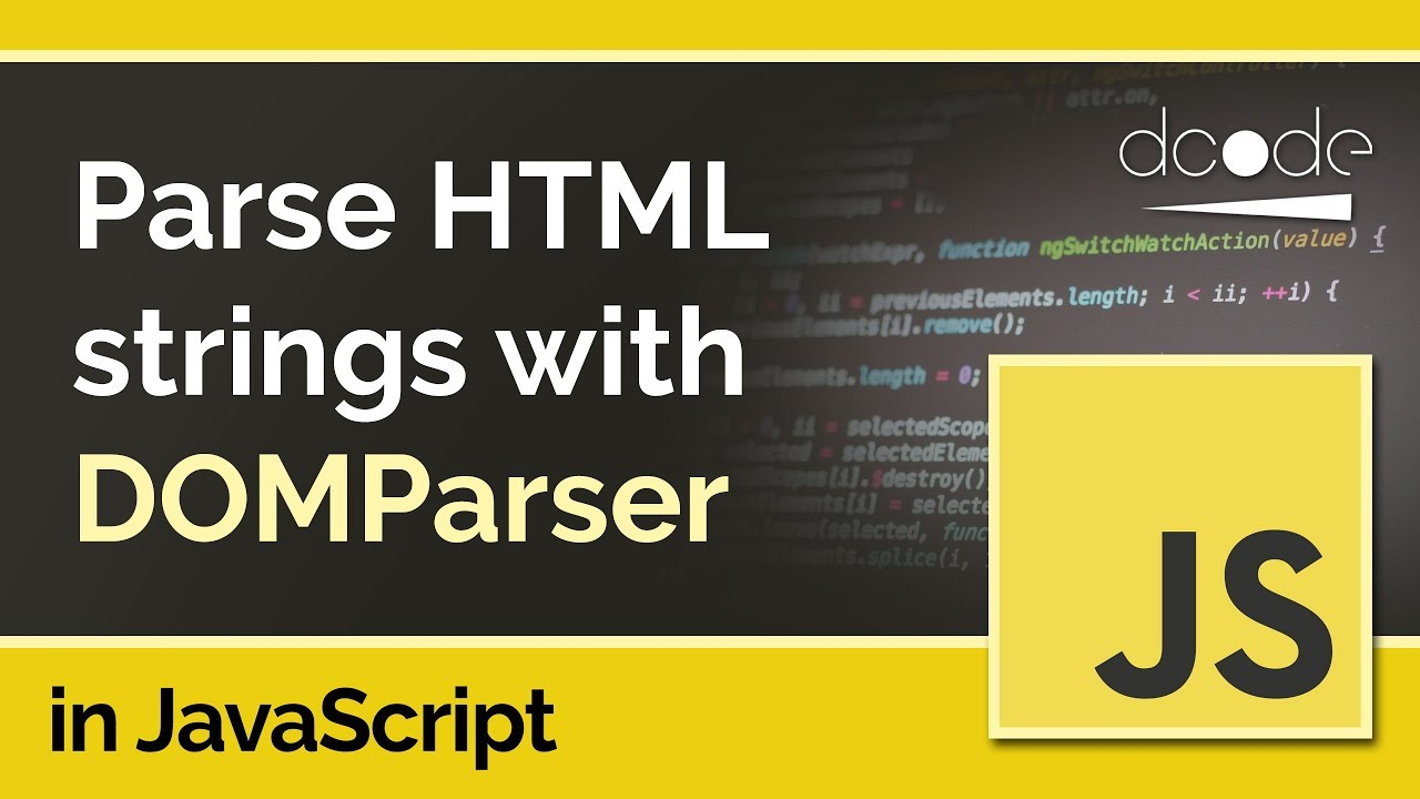 What is the DOMParser   JavaScript Tutorial