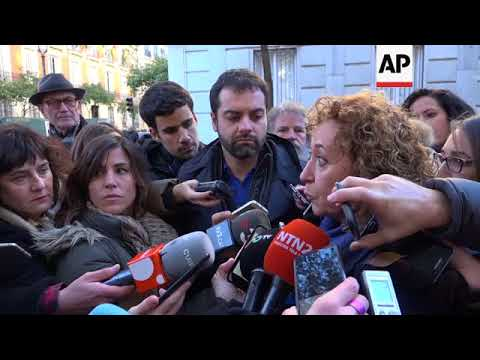 Jailed Catalan separatists arrive at Madrid court
