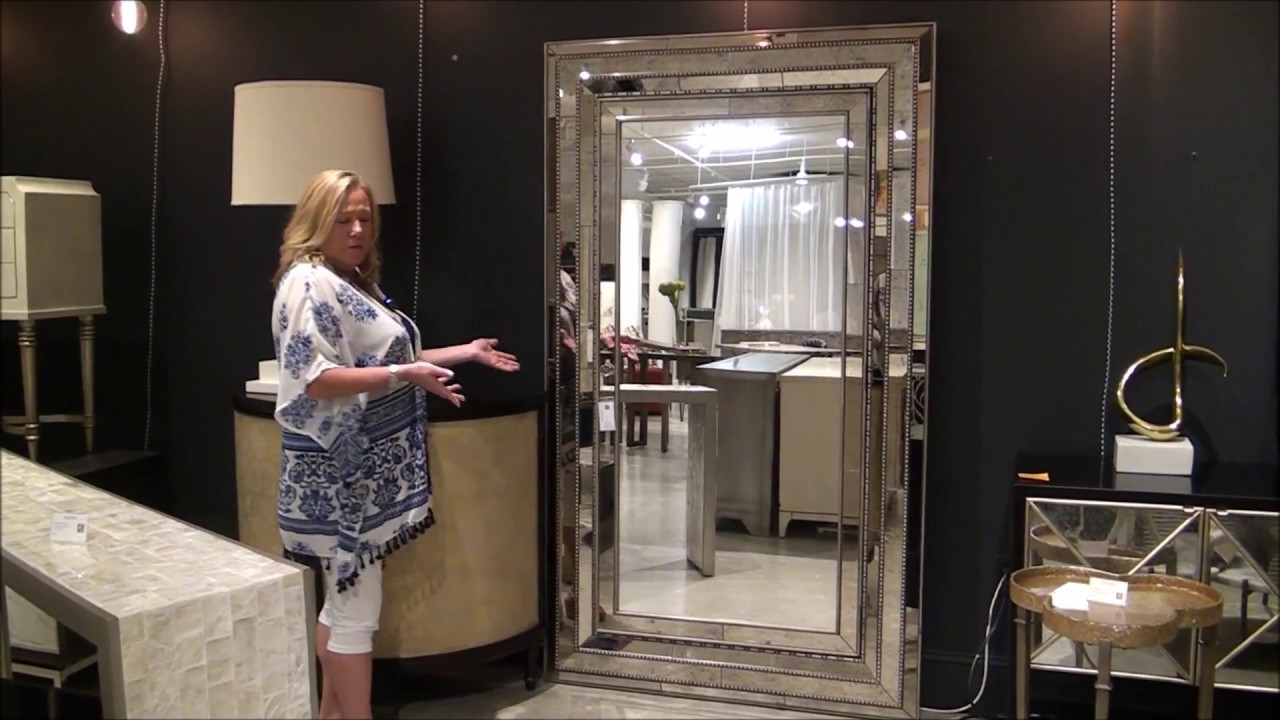 Hooker Melange Floor Mirror with Hidden Jewelry Storage - YouTube