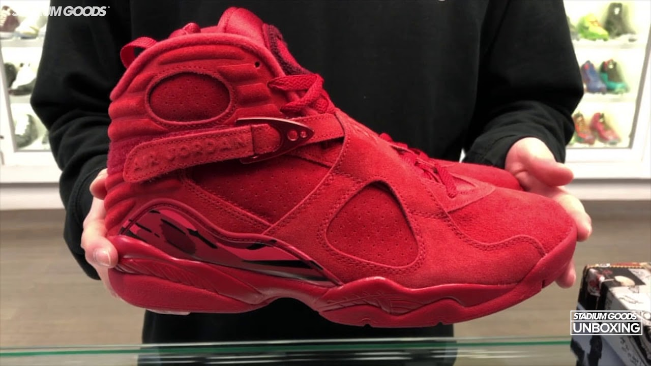 Unboxing Air Jordan 8 Valentine S Day Youtube