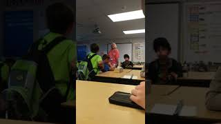 Teacher Doesn't Know The Definition of Annoying While Yelling At A Kid.