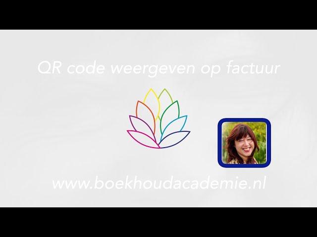 QR code weergeven op factuur