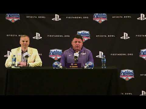 LSU coach Ed Orgeron FULL Fiesta Bowl press conference
