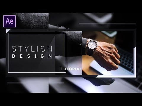 Stylish Slideshow Animation in After Effects - After Effects Tutorial