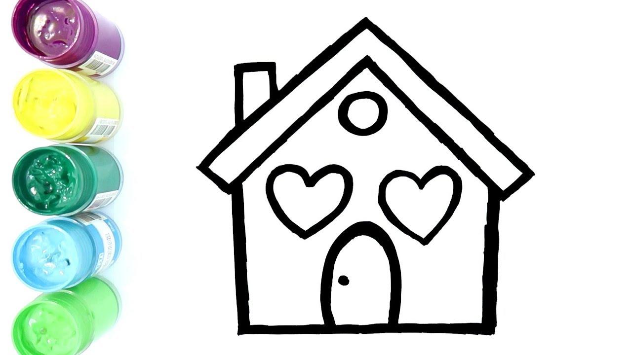 Belajar Menggambar Dan Mewarnai Rumah Sederhana