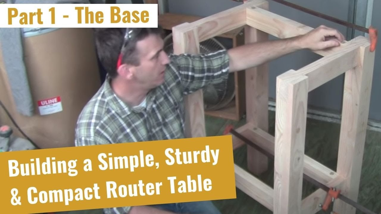 How to build a router table part 1 of 2 the base viyoutube for How to make a router table stand