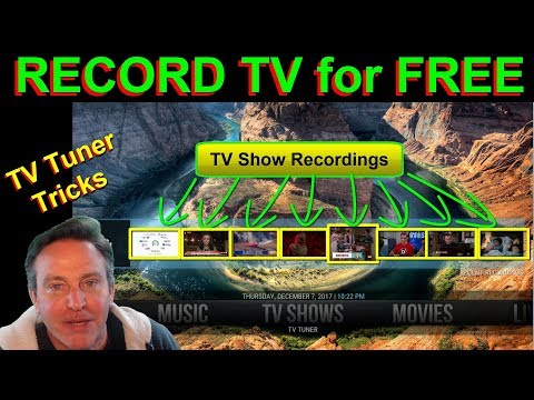 How To Record TV and bring it into KODI - Free DVR