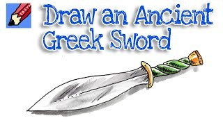 How to Draw an Ancient Greek Sword Real Easy - Xiphos