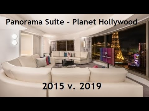Panorama Suite Planet Hollywood Hotel & Casino, Las Vegas - 2015 V. 2019. Ultra Vegas Hotel Room