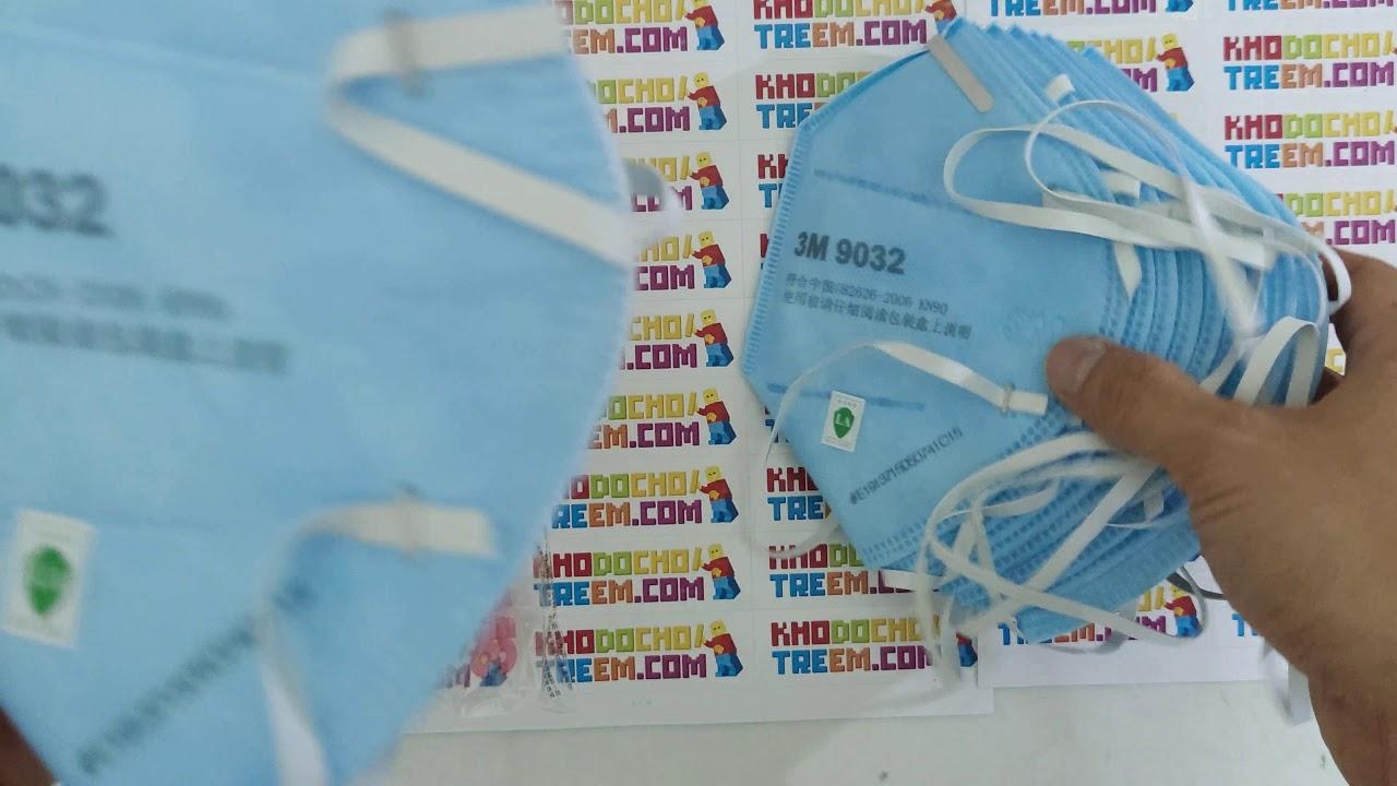 Chính hãng Khẩu trang 3M 9032 KN90 lọc hơn 90% bụi mịn PM2.5 đeo đầu mới hơn 3M 9001 giá sốc rẻ nhất