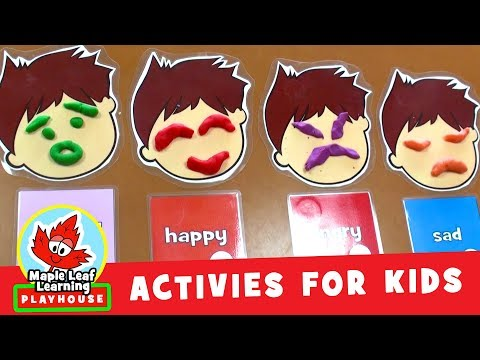 Play Doh Face Activity for Kids | Maple Leaf Learning Playhouse