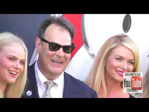 Dan Aykroyd and Donna Dixon arriving to the Ghostbusters Premiere in Hollywood