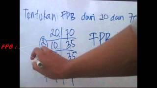 Belajar Matematika: Cara mencari FPB dengan tabel