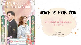 Love Is For You - Clare Duan 段奥娟 OST. Dating In The Kitchen 《我,喜欢你》 PINYIN LYRIC