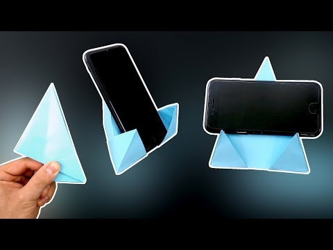 DIY - Origami Phone Stand/Holder 4.0 - Vertical and Horizontal!